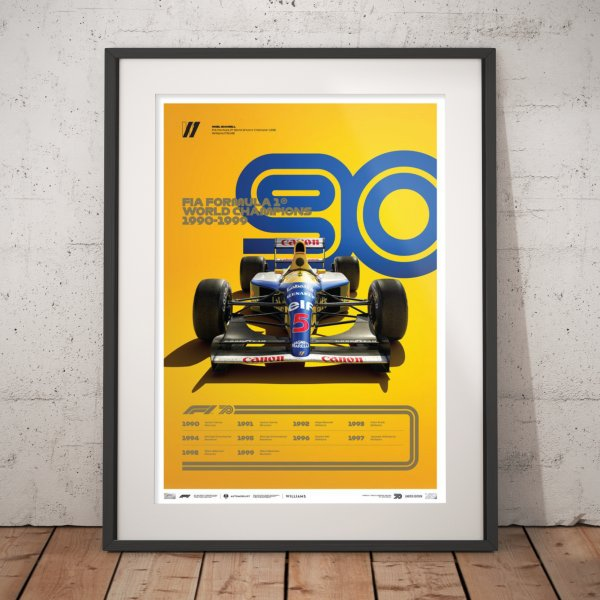 FORMULA 1® DECADES – 90s Williams – Poster | Limited Edition