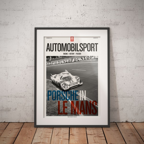 Poster AUTOMOBILSPORT #01 (2 sided) – Porsche at Le Mans