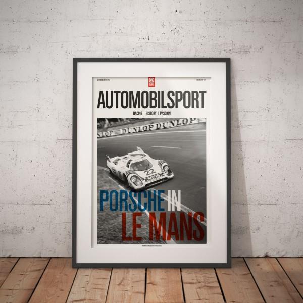 Poster AUTOMOBILSPORT #01 (2-seitig) – Porsche 917K