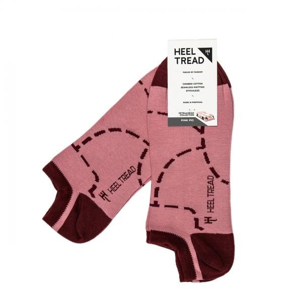 Heel Tread Sneakersocken – Pink Pig