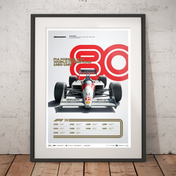 FORMULA 1® DECADES – 80s McLaren – Poster | Limited Edition