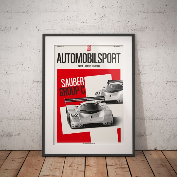 Poster AUTOMOBILSPORT #04 (2-seitig) – Sauber Mercedes C9