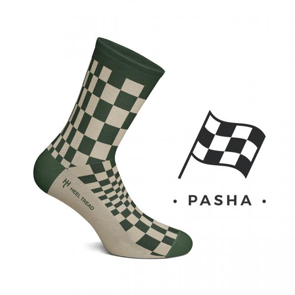Heel Tread socks – Pasha olive/tan