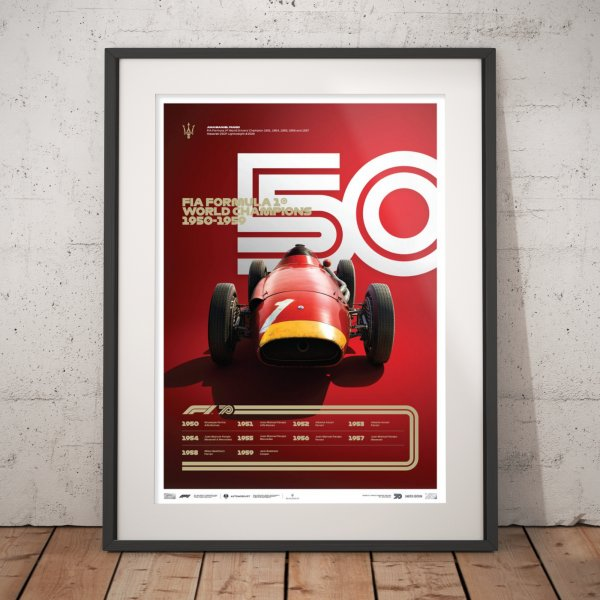 FORMULA 1® DECADES – 50s Maserati – Poster | Limited Edition