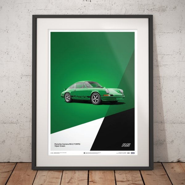 Porsche 911 RS – Green – Poster | Limited Edition