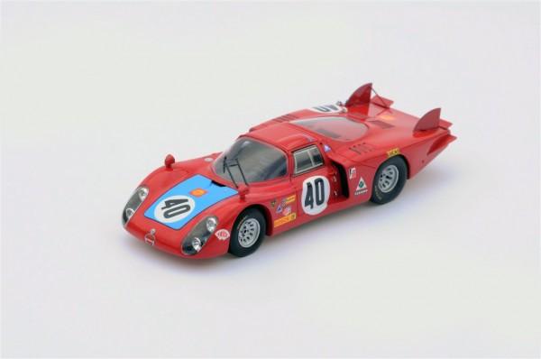 Alfa Romeo T33/2 Casoni/Biscaldi 24h Le Mans 1968 Spark 1:43