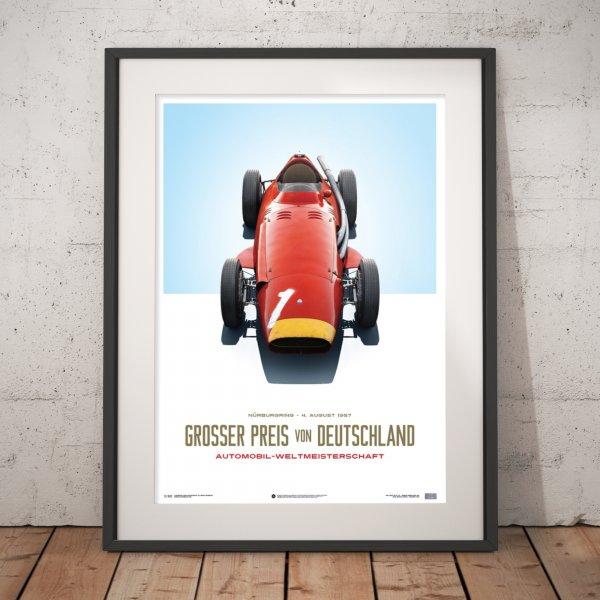 Maserati 250F – Juan Manuel Fangio – Red – German GP – Poster | Limited Edition