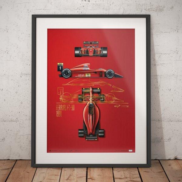 Giorgio Piola – Ferrari F1-90 – 1990 – Poster | Collector's Edition