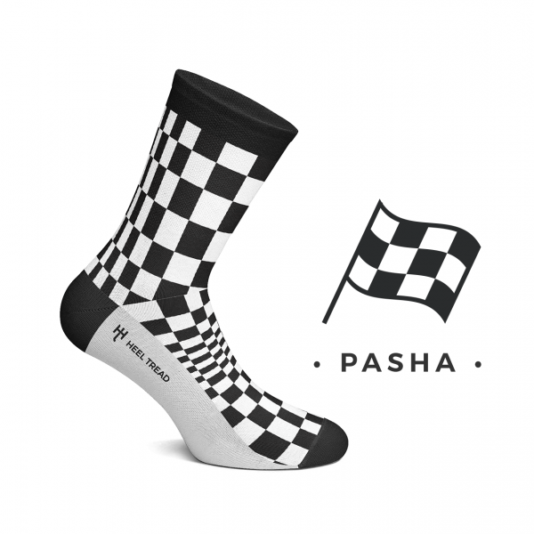 Heel Tread Socken – Pasha black/white