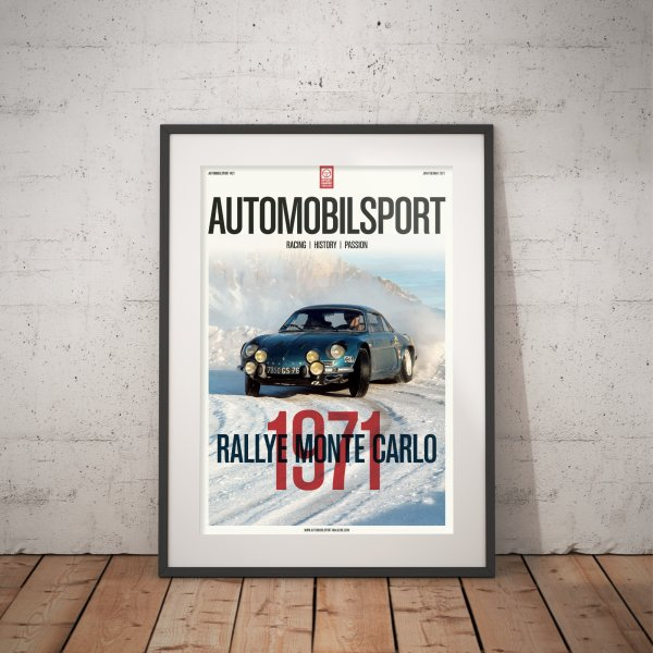 Poster AUTOMOBILSPORT #27 (2 sided) – Alpine-Renault A110 1600 S Group 4 1971