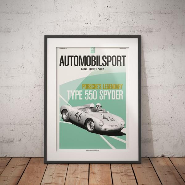Poster AUTOMOBILSPORT #06 (2-seitig) – Porsche 550 Spyder