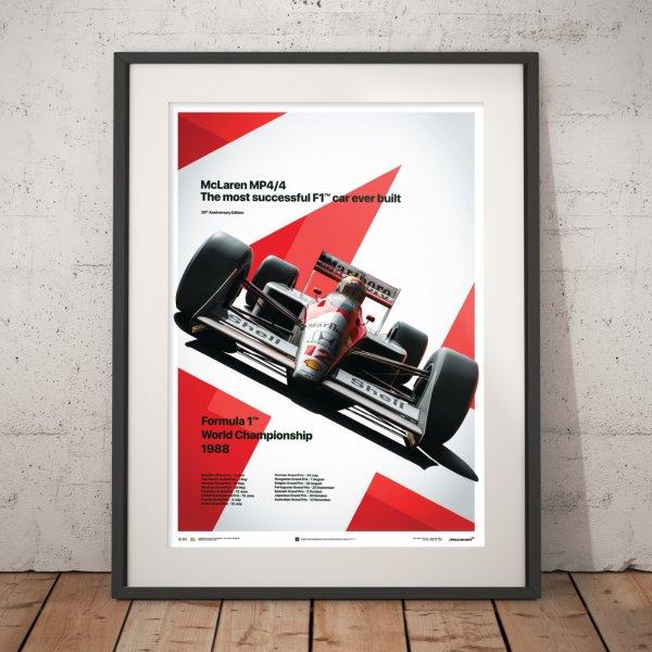 McLaren MP4/4 – Ayrton Senna – MP4/4 – San Marino GP – 1988 – Poster