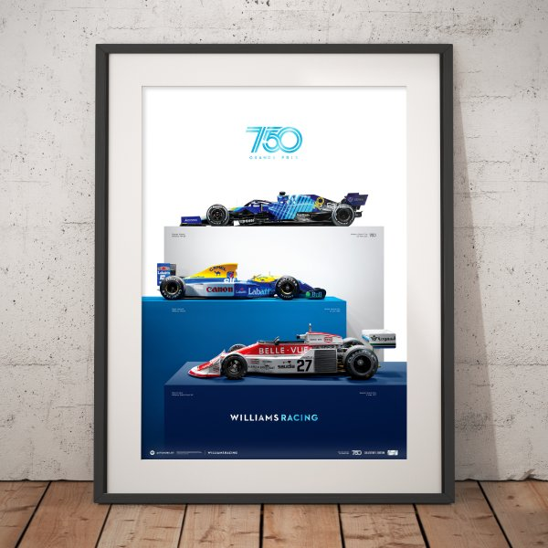 Williams Racing – 750 Grands Prix – Poster   Collector's Edition