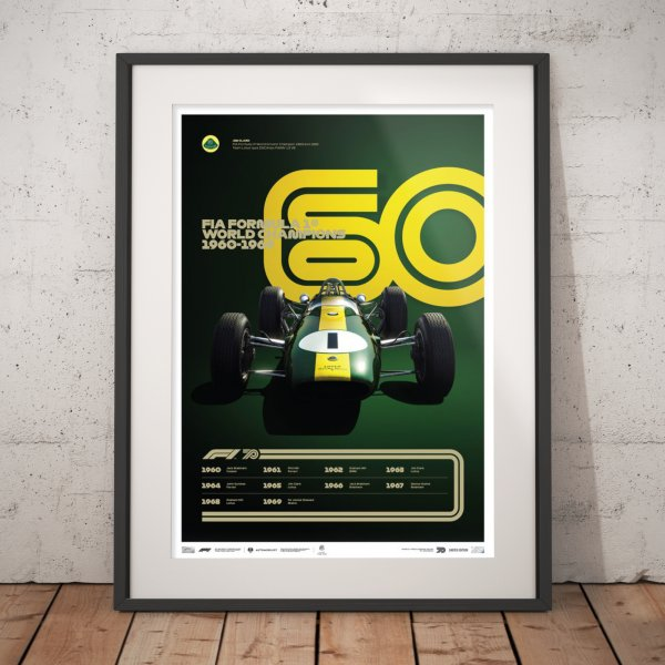 FORMULA 1® DECADES – 60s Team Lotus – Poster | Limited Edition