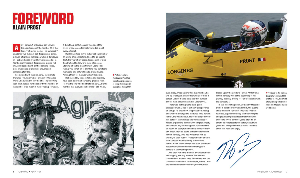 27 Patrick Tambay The Ferrari Years Sportfahrer Zentrale