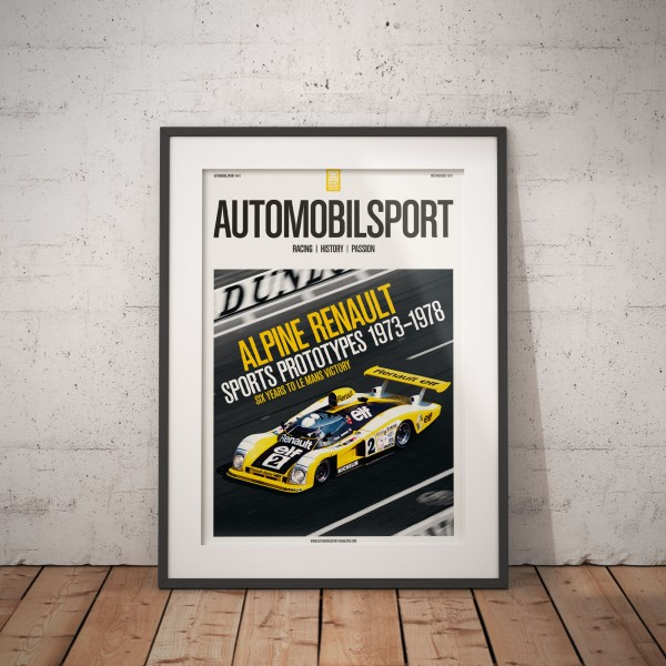 Poster AUTOMOBILSPORT #14 (2 sided) – Alpine Renault A442 V6 Turbo