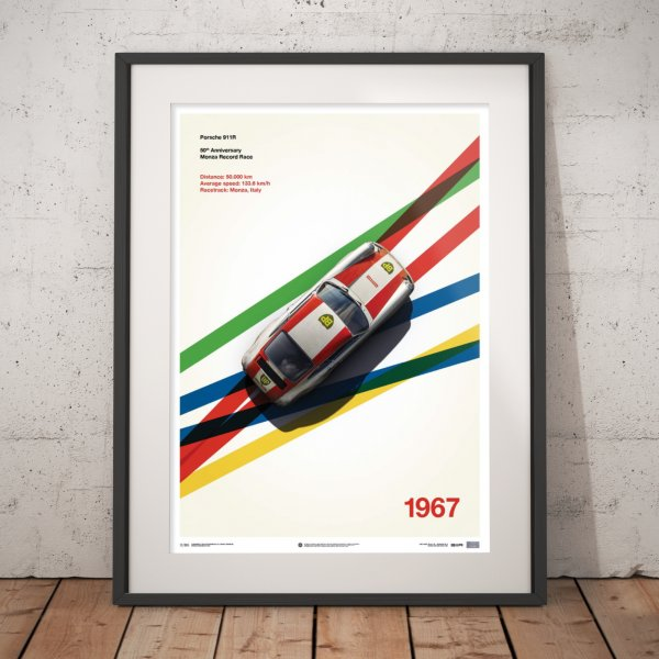 Porsche 911R – BP Racing – Monza – 1967 – Poster | Limited Edition