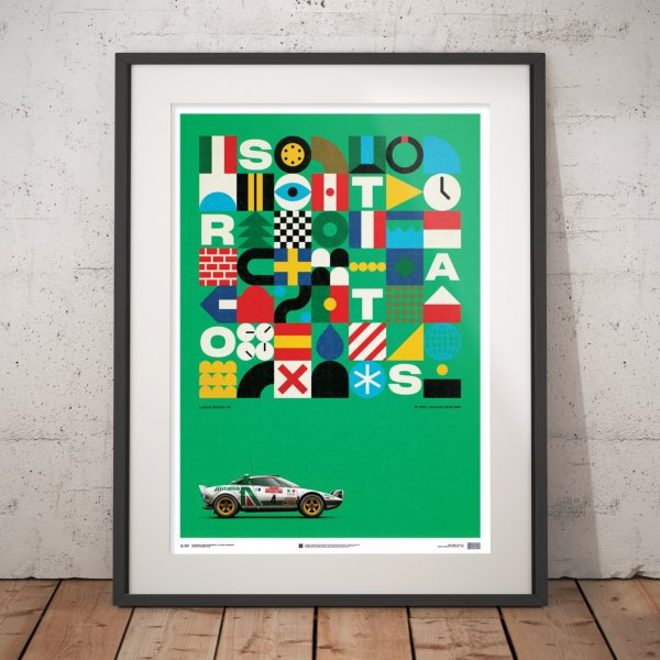 Lancia Stratos HF – Green – Alitalia – 1974 – Poster | Limited Edition
