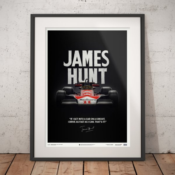 McLaren M23 – James Hunt – Quote – Japanese GP – 1976 – Poster | Limited Edition