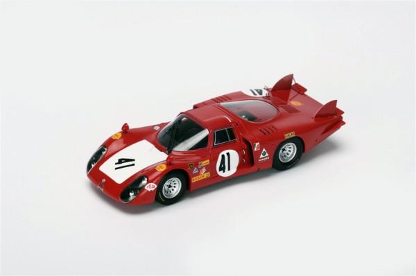 Alfa Romeo T33/2 Baghetti/Vaccarella 24h Le Mans 1968 Spark 1:43