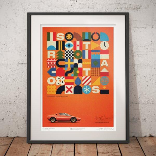 Lancia Stratos HF Prototype – Orange – 1971 – Poster | Collector's Edition