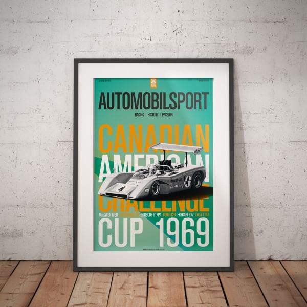 Poster AUTOMOBILSPORT #12 (2-seitig) – McLaren M8B