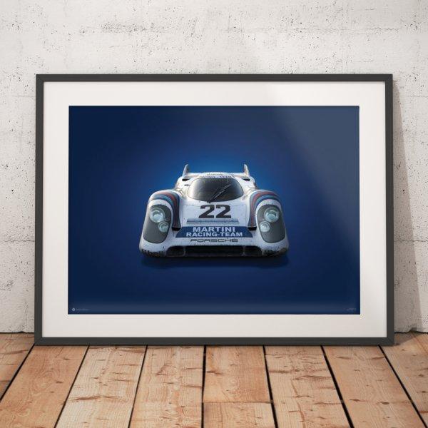 Porsche 917 – Martini – 24h Le Mans – 1971 – Colors of Speed Poster