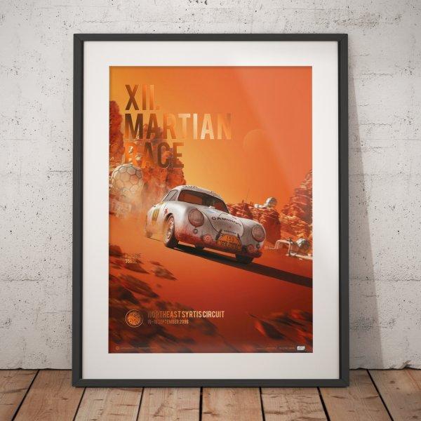 Porsche 356 SL – Future – XII. Martian Race – 2096 – Poster | Collector's Edition