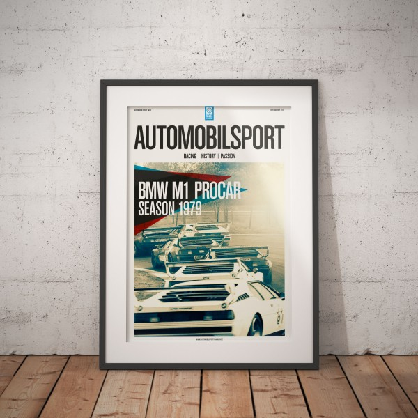 Poster AUTOMOBILSPORT #02 (2-seitig) – BMW M1 Procar