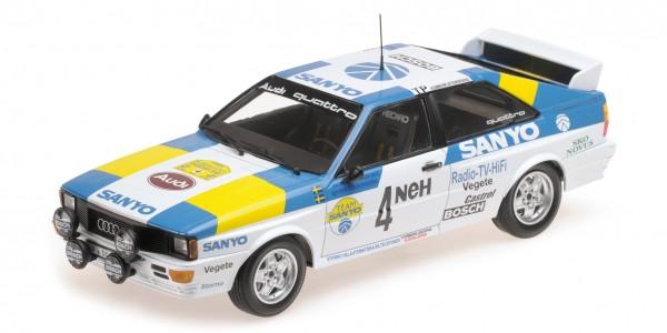 Audi Quattro Blomqvist/Cederberg Rallye Schweden 1982 Minichamps 1:18