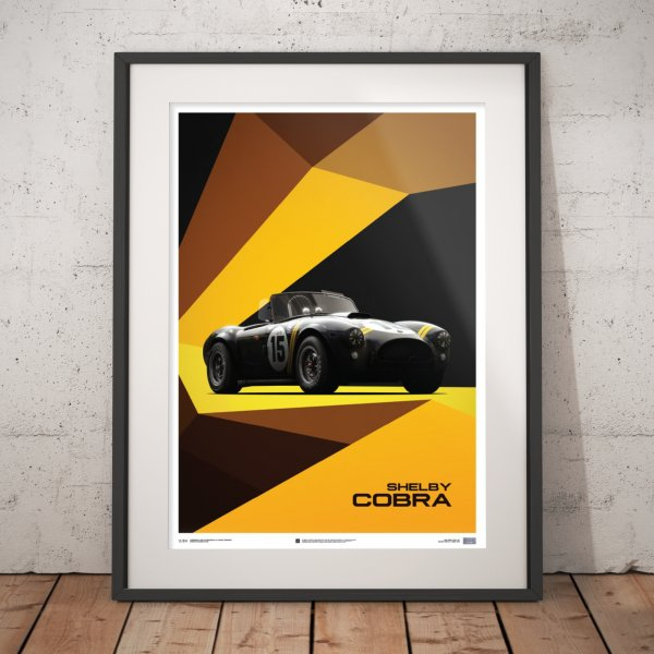 Shelby-Ford AC Cobra Mk II – Black – 1962 – Poster | Limited Edition