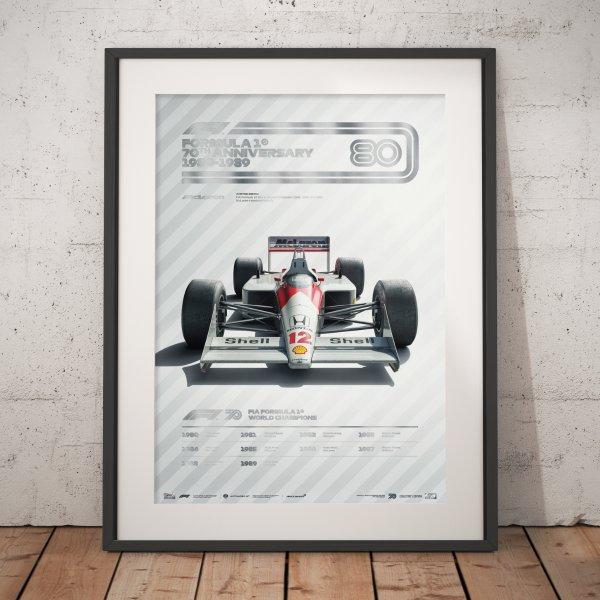 Formula 1® Decades – 80s McLaren – Poster | Collector's Edition
