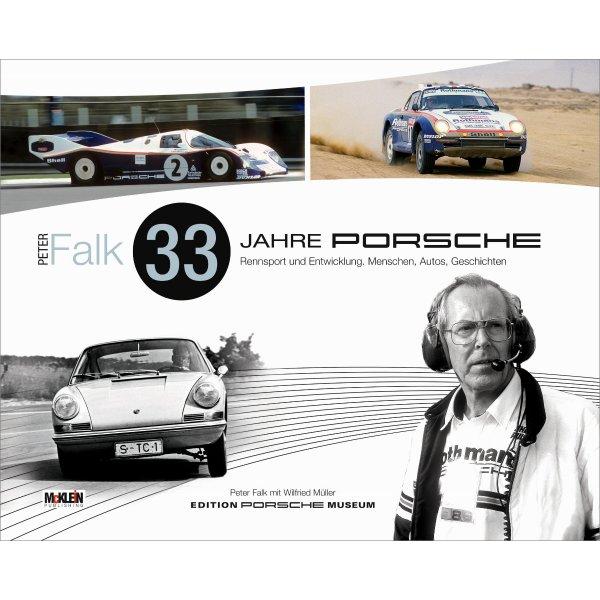 Peter Falk – 33 Jahre Porsche Rennsport und Entwicklung – Deutsche Ausgabe – Cover