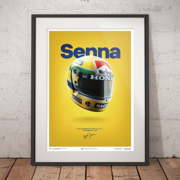McLaren MP4/4 – Ayrton Senna – Helmet – San Marino GP – 1988 – Poster