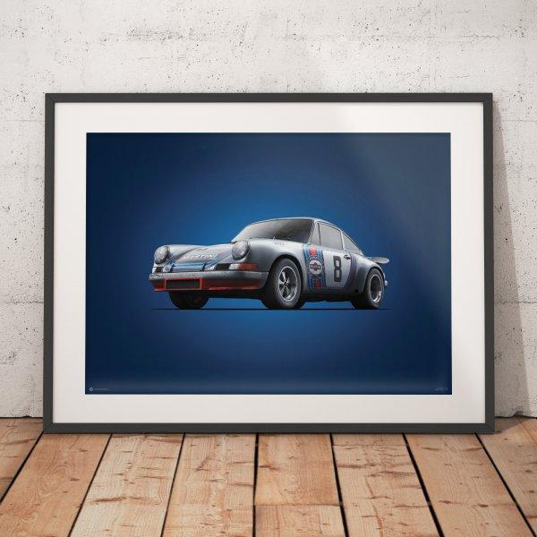 Porsche 911 RSR – Martini – Targa Florio – 1973 – Colors of Speed Poster