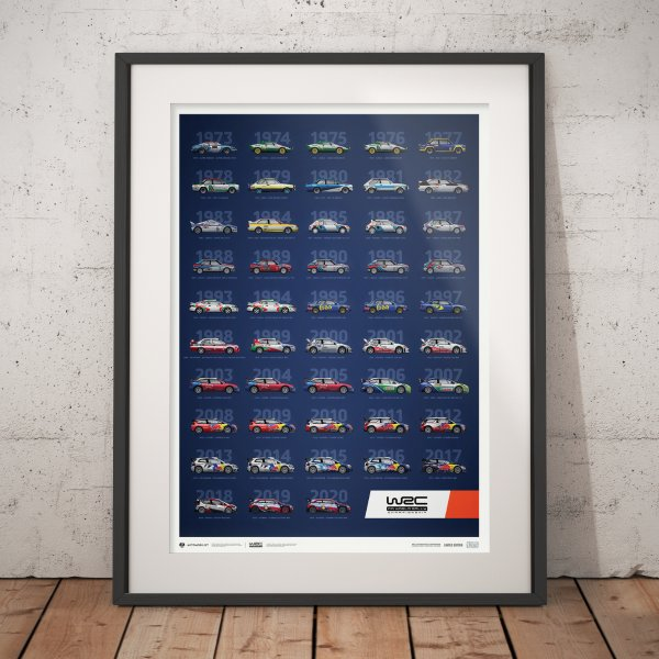 WRC Constructors' Champions 1973–2020 – 48th Anniversary – Poster   Limited Edition