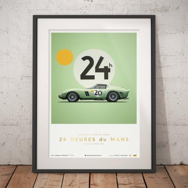Ferrari 250 GTO – Green – 24h Le Mans – 1962 – Poster | Collector's Edition