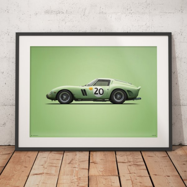 Ferrari 250 GTO – Green – 24h Le Mans – 1962 – Colors of Speed Poster