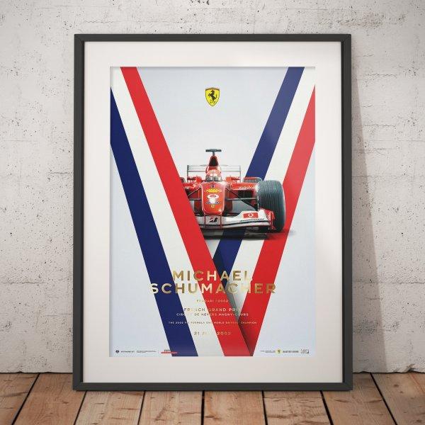 Ferrari F2002 – Michael Schumacher – French Grand Prix – 2002 – Poster | Collector's Edition