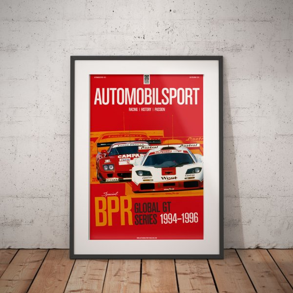Poster AUTOMOBILSPORT #23 (2 sided) – McLaren F1 GTR 1996