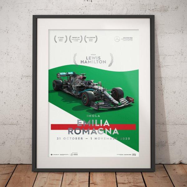 Mercedes-AMG Petronas F1 Team – Imola 2020 – Lewis Hamilton – Poster | Collector's Edition