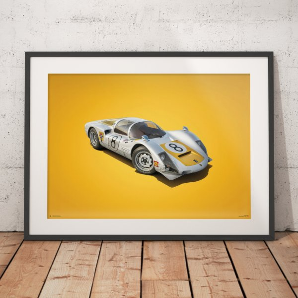 Porsche 906 – White – Japanese GP – 1967 – Colors of Speed Poster