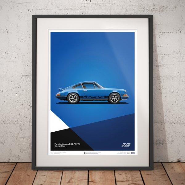 Porsche 911 RS – Blue – Poster | Limited Edition