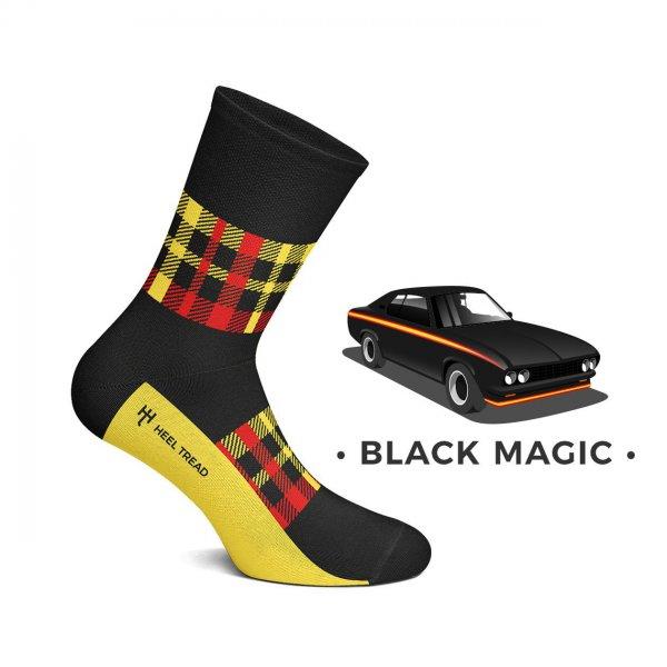 Heel Tread Socken – Black Magic