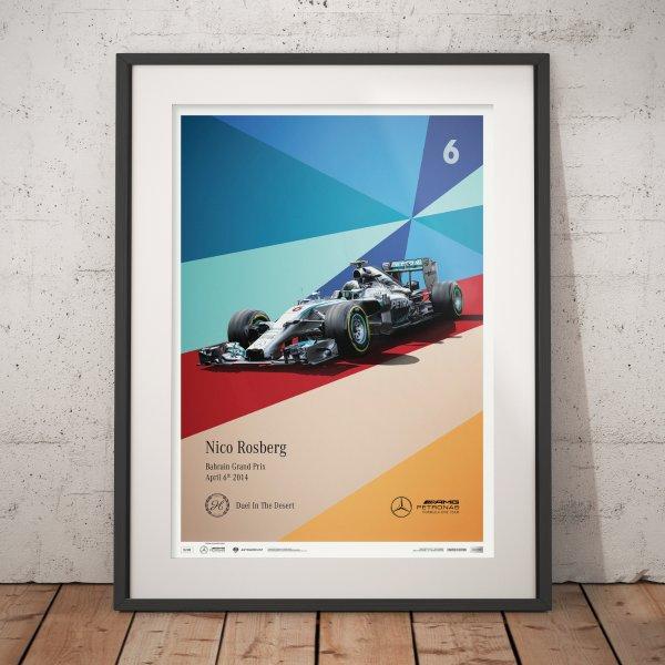 Mercedes-AMG Petronas Motorsport – 2014 – Nico Rosberg – Poster | Limited Edition