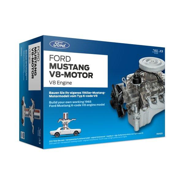 Ford Mustang V8-Motor Baujahr 1965 Bausatz Franzis 1:3