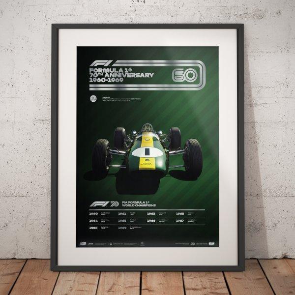 Formula 1® Decades – 60s Team Lotus – Poster   Collector's Edition