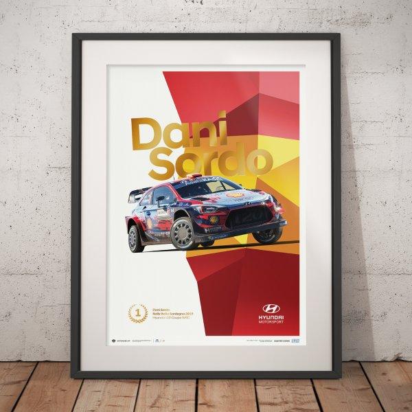 Hyundai Motorsport – Rally Italia Sardegna 2019 – Dani Sordo – Poster   Collector's Edition
