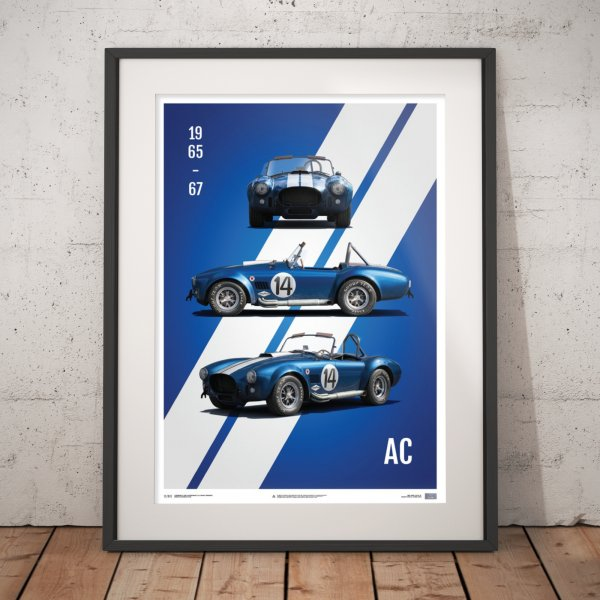 Shelby-Ford AC Cobra Mk III – Blue – 1965 – Poster | Limited Edition