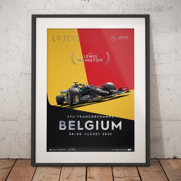 Mercedes-AMG Petronas F1 Team – Belgium 2020 – Lewis Hamilton – Poster | Collector's Edition